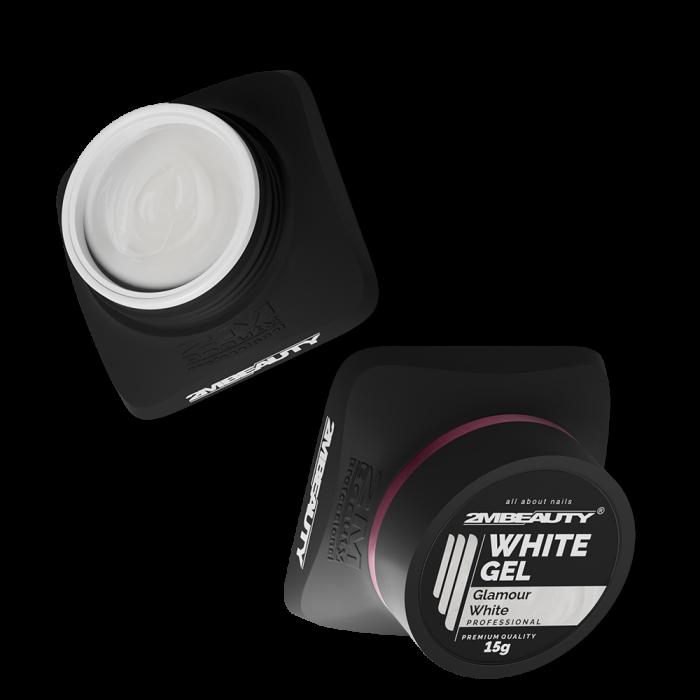 Gel costruttore bianco con micro glitter di media densità. Perfetto per babyboomer con effetto bril...